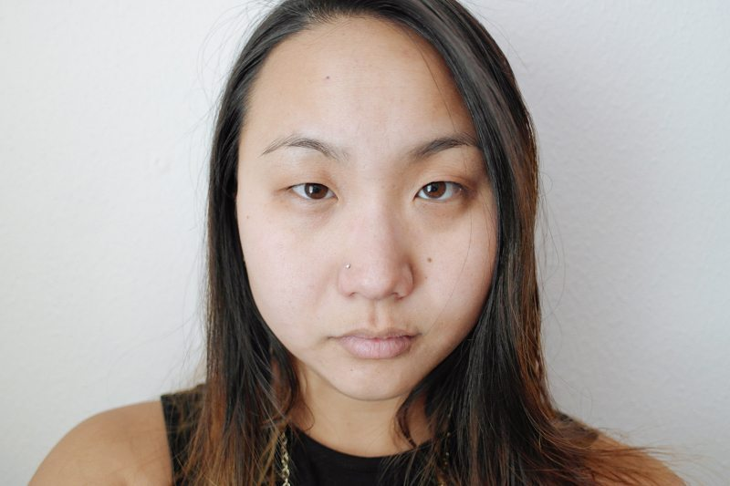 Before: No makeup or lenses