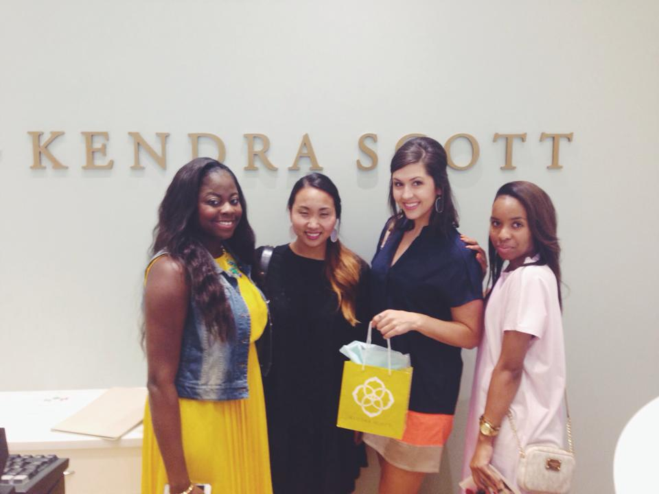 Enjoyed spending time with these lovely Dallas bloggers: Jasmine, Rhonda, and Kelley.