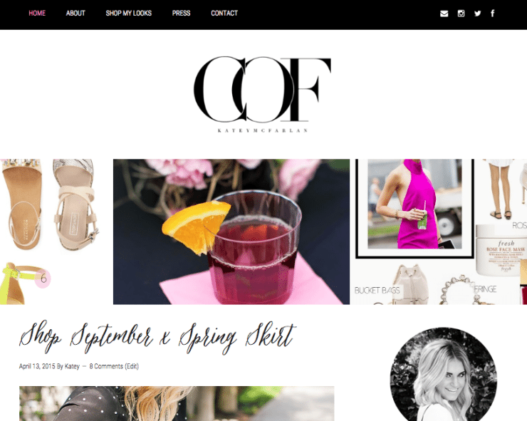 Chronicles of Frivolity Website Design