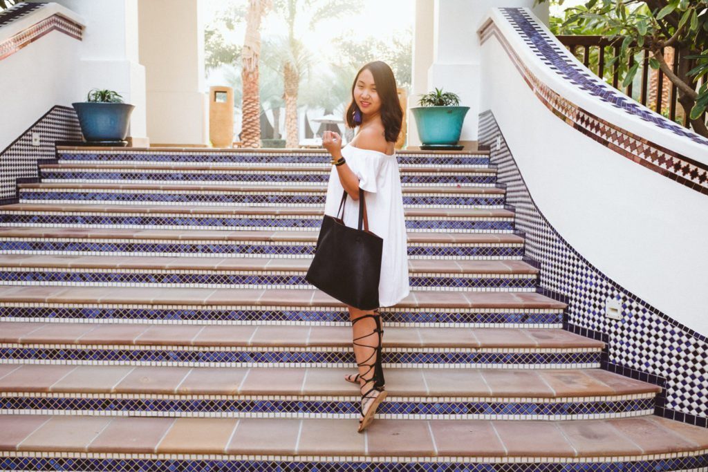 Little White Dress in Dubai | Stephanie Drenka