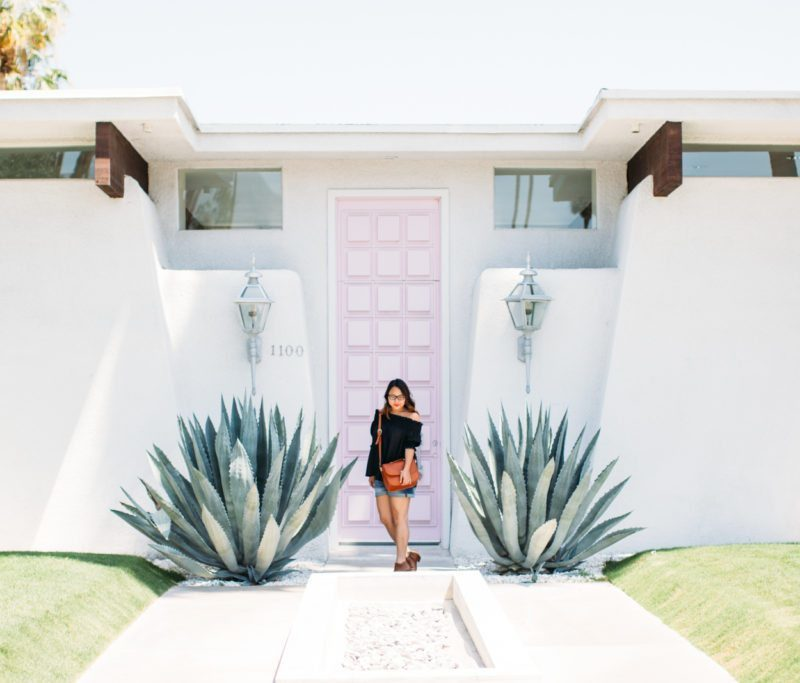 """That Pink Door"" in Palm Springs 