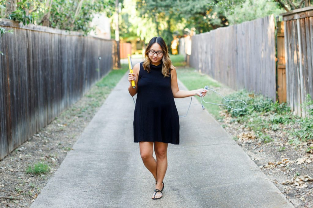 $25 Little Black Dress & Beach Waves | Stephanie Drenka