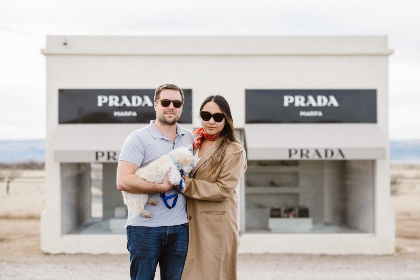Prada Marfa off of U.S. 90 in Valentine, Texas