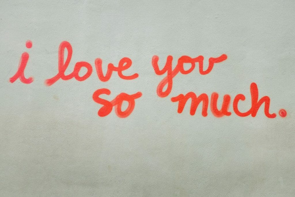 i love you so much mural in Austin, Texas