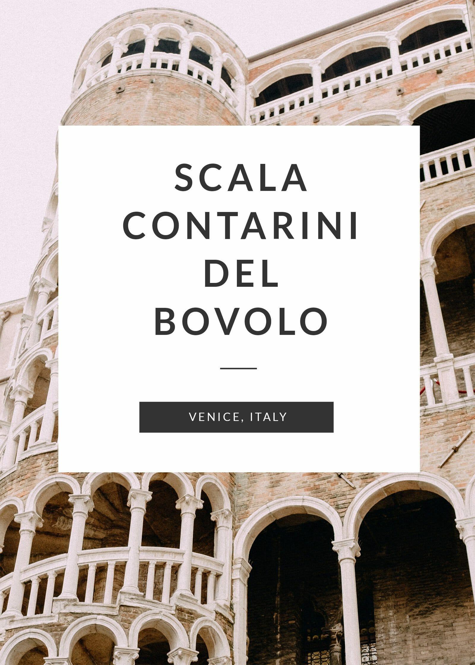 Scala Contarini del Bovolo in Venice, Italy