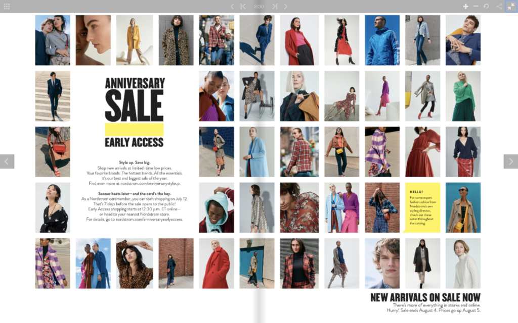 Nordstrom Anniversary Sale catalog